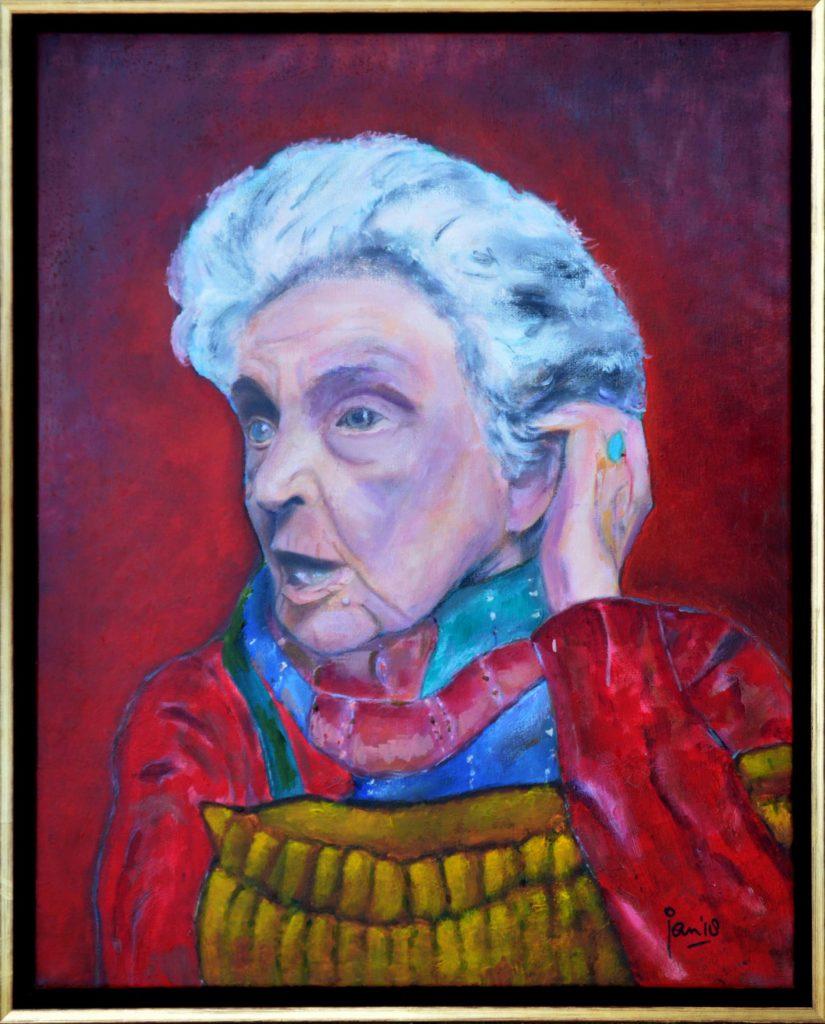 Jan Boer Wageningen / olieverfschilderij van Ida Lelie