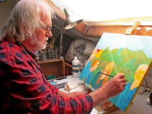 Jan Boer Wageningen olieverf schilderijen