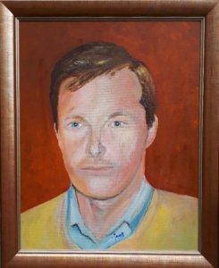 Jan Boer Wageningen - olieverfschilderij van Ryszard Kowalski